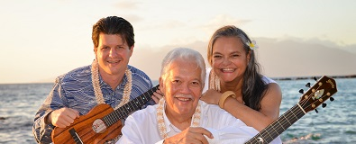Keola Beamer & Jeff Peterson w/ Moanalani Beamer